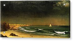Approaching Storm Near Newport Beach Acrylic Print by Martin Heade