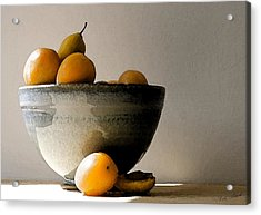 Apricot Bowl  Acrylic Print by Cole Black