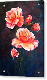 Acrylic Print featuring the painting Apricot Rose by Renate Voigt