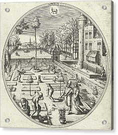 April, Adriaen Collaert, Hans Bol, Hans Van Luyck Acrylic Print by Adriaen Collaert And Hans Bol And Hans Van Luyck