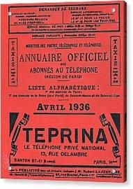 April In Paris 1936 Acrylic Print