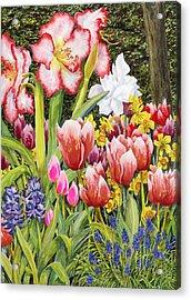 April Acrylic Print by Karen Wright