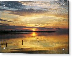 Acrylic Print featuring the photograph April Reflections by Michele Kaiser