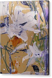 Acrylic Print featuring the painting April Showers 1 by Nancy Kane Chapman