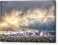 April Showers Over Reno Acrylic Print