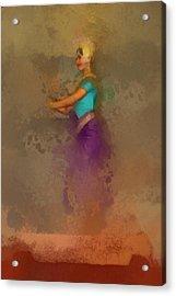 Apsara Dancing Cambodia Lovely Lady Acrylic Print by Teara Na