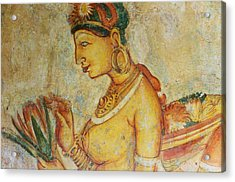 Apsara With Lotus. Sigiriya Cave Fresco Acrylic Print