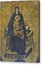 Apse Mosaic Hagia Sophia Virgin And Child Acrylic Print by Ayhan Altun