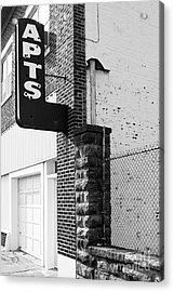 Apts Acrylic Print by Lawrence Burry