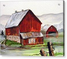 Acrylic Print featuring the painting Apulia Farm Barn by Carol Hart