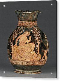 Apulian Red-figure Chous Shape 3 Attributed Acrylic Print by Litz Collection