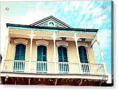 Acrylic Print featuring the photograph Aqua And Yellow House by Sylvia Cook