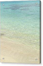 Aqua Blue Waters Acrylic Print
