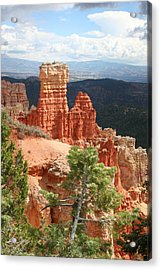 Aqua Canyon IIi Acrylic Print by Mary Gaines