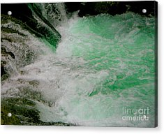 Aqua Falls Acrylic Print by Rich Collins