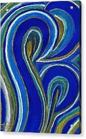 Aqua In Motion IIi Acrylic Print by Carla Sa Fernandes