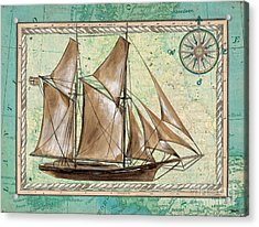 Aqua Maritime 2 Acrylic Print by Debbie DeWitt