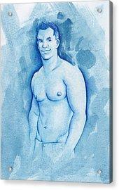 Aqua Acrylic Print by Rudy Nagel