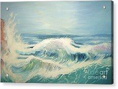 Aqua Sea Scape Acrylic Print