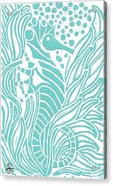 Aqua Seahorse Acrylic Print