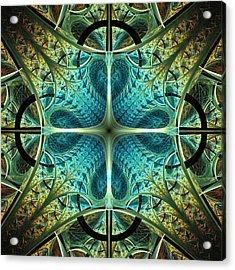 Aqua Shield Acrylic Print by Anastasiya Malakhova