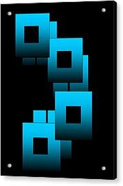 Aqua Squares Acrylic Print by Gayle Price Thomas