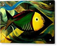 Acrylic Print featuring the painting Aqua by Steve Godleski