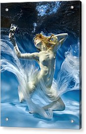 Aqua-theatre Acrylic Print by Uniquecapture