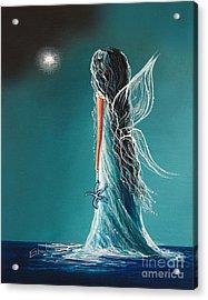 Aquamarine Fairy By Shawna Erback Acrylic Print