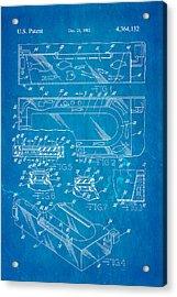 Aquarium Bath Patent Art 1982 Blueprint Acrylic Print by Ian Monk