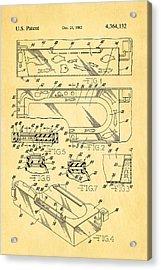 Aquarium Bath Patent Art 1982 Acrylic Print by Ian Monk