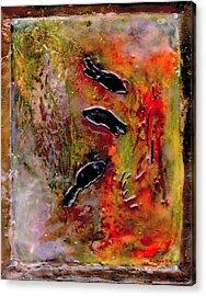 Aquarium Encaustic Acrylic Print by Bellesouth Studio