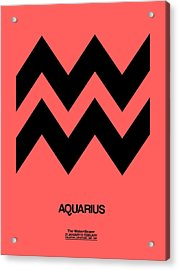 Aquarius Zodiac Sign Black Acrylic Print