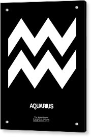 Aquarius Zodiac Sign White Acrylic Print
