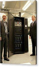 Aquasar Supercomputer Acrylic Print by Ibm Research