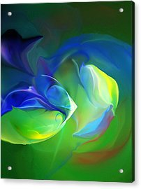 Acrylic Print featuring the digital art Aquatic Illusions by David Lane