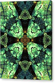 Aquatic Lace 10 Acrylic Print by Shawna Rowe