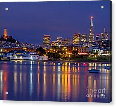 Aquatic Park Blue Hour Acrylic Print by Kate Brown