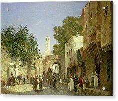Arab Street Scene Acrylic Print