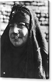 Arab Woman With Nose Ring Acrylic Print by Underwood Archives