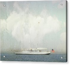 Arabella On Newport Harbor Acrylic Print by Karen Lynch