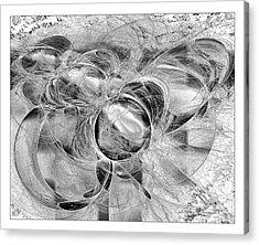 Arabesque Design In Black And White Acrylic Print by Leona Arsenault