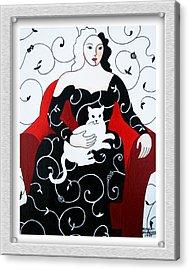 Arabesque Acrylic Print by Eve Riser Roberts