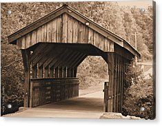 Arabia Mountain Covered Bridge Acrylic Print by Tara Potts