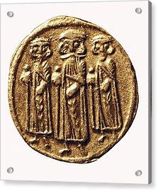 Arabian-byzantine Coin. Coin. France Acrylic Print by Everett