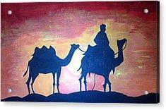 Arabian Sands Acrylic Print by Remya Damodaran