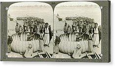 Arabs Building A Kufa Acrylic Print by Underwood Archives
