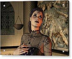 Acrylic Print featuring the digital art Arachna by Jayne Wilson