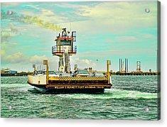 Aransas Pass Texas Ferry Acrylic Print