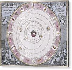Aratus Planisphere, 1708 Acrylic Print by Science Photo Library